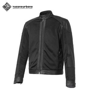 투카노 어바노 투카노 클래식바이커컷 레더 오토바이 메쉬 자켓 셀바지오 블랙